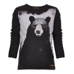 Black Bear Print Long Sleeve Tee