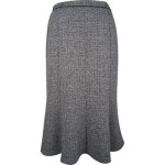 Black fleck panel flared skirt