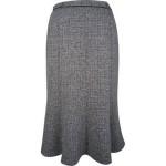 Black fleck panel flared skirt