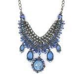Blue multi chain vintage cameo