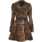 Brown animal fur coat