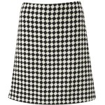 Hobbs Elham Diamond wool a-line skirt