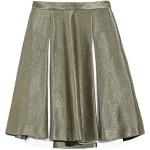 Jonathan Saunders Hollis pleated silk raffia skirt