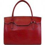 Red satchel briefcase
