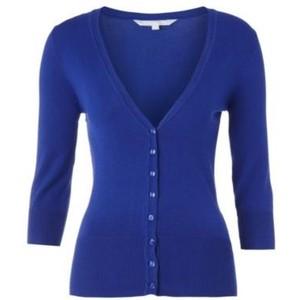 Royal blue v-neck cardigan