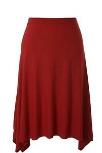 ecoKashmere drape asymmetrical hem skirt